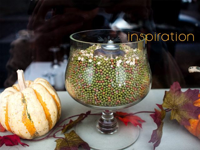 oil lamps in beans inspiration