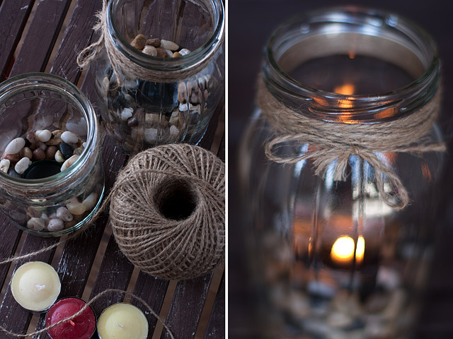 Tea Lights In Jars DIY: Supplies