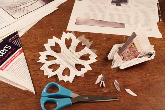 Paper Snowflake Garland