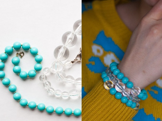 DIY Bracelets Out Of Second Hand Bead Necklaces before and after