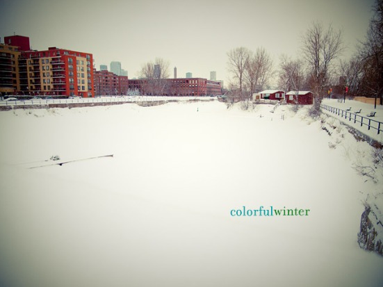 Winter At Montreal: Lachine Canal