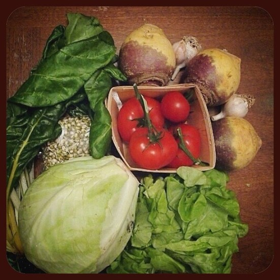 vegetables of the week from lufa farm