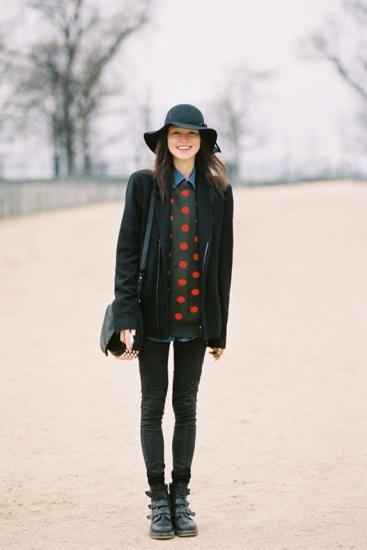 Polka Dot DIY Inspiration: Street Style Paris Fashion Week 2012