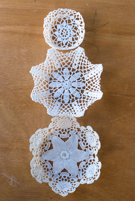DIY Second Hand Lace Doily Bowls