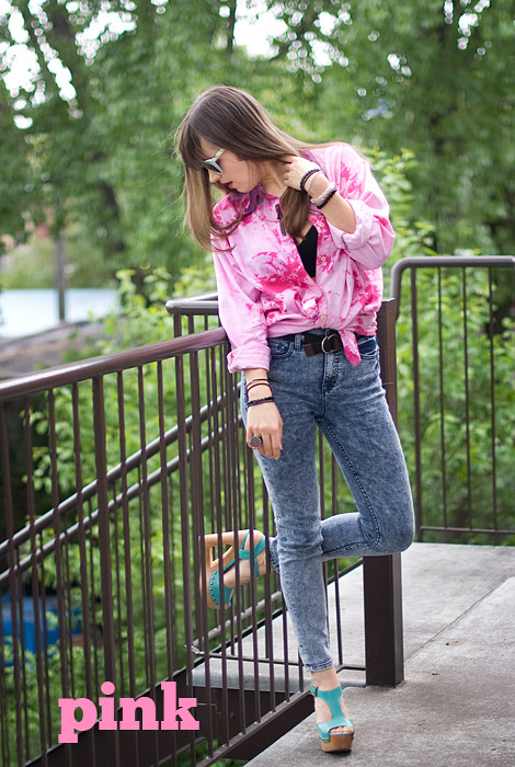 Dylon Flamingo Pink Tie-Dye Secondhand Shirt Upcycle DIY