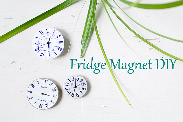 vintage second hand watch fridge magnet DIY