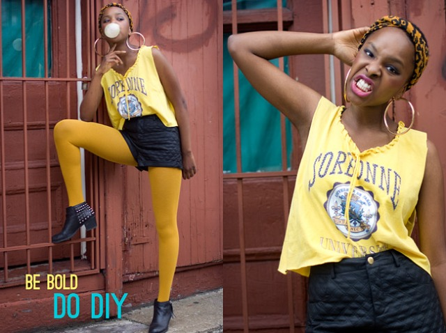 DIY: Loose Crop Tee Made Of Male T-Shirt