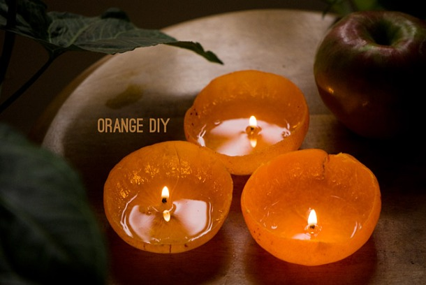 DIY: Tangerine Candles Result