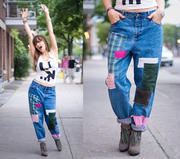 DIY Patched Vintage Jeans Inspired By Junya Watanabe's AW Fashion Collection 2013