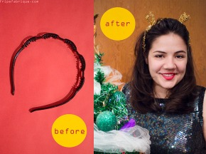 DIY Last Minute Garland Ears Headband