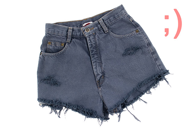 Distressed Denim Cut Off Shorts DIY After