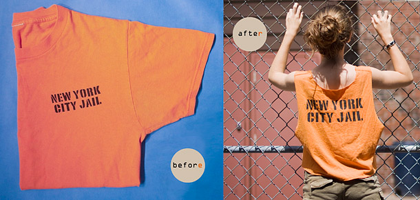 OITNB Crop Top Easy DIY