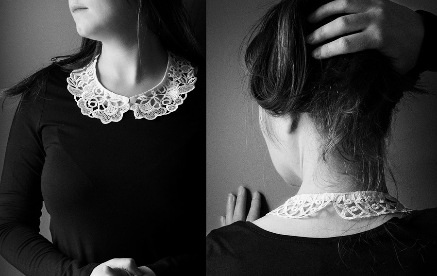 Easy DIY Detachable Collar: $5 Answer To What to Wear With A Black Dress