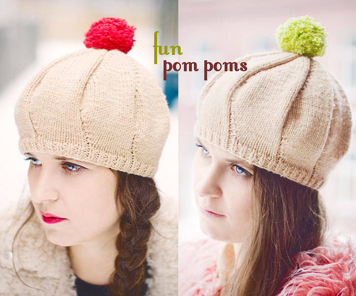 Changeable Pom Pom Beret DIY: Easy Way To Modify Your Look