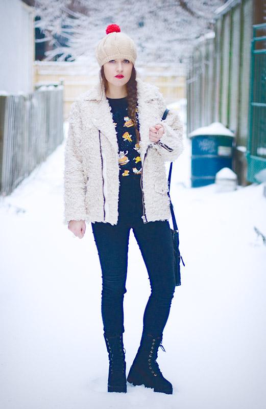 diy-fashion-pompom-beret-red-faux-fur-moto-jacket-full-front-Jan-04-2015-02