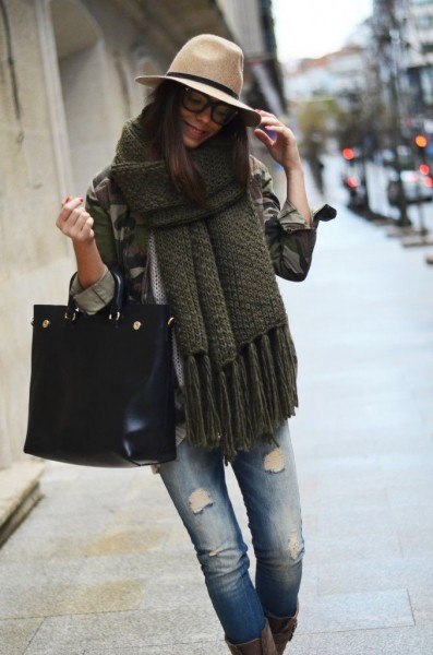 green-oversized-scarf-large-scarf